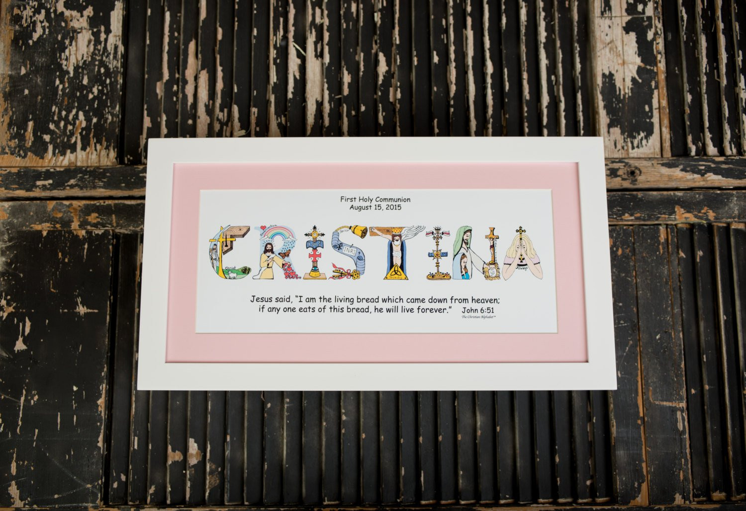 First Communion Gift Ideas For Girls  First munion Gifts for Girls Personalized Christian Name