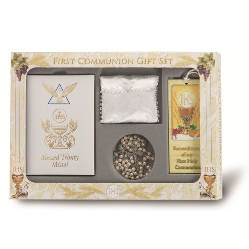 First Communion Gift Ideas For Girls  First munion Blessed Trinity Gift Set For Girls