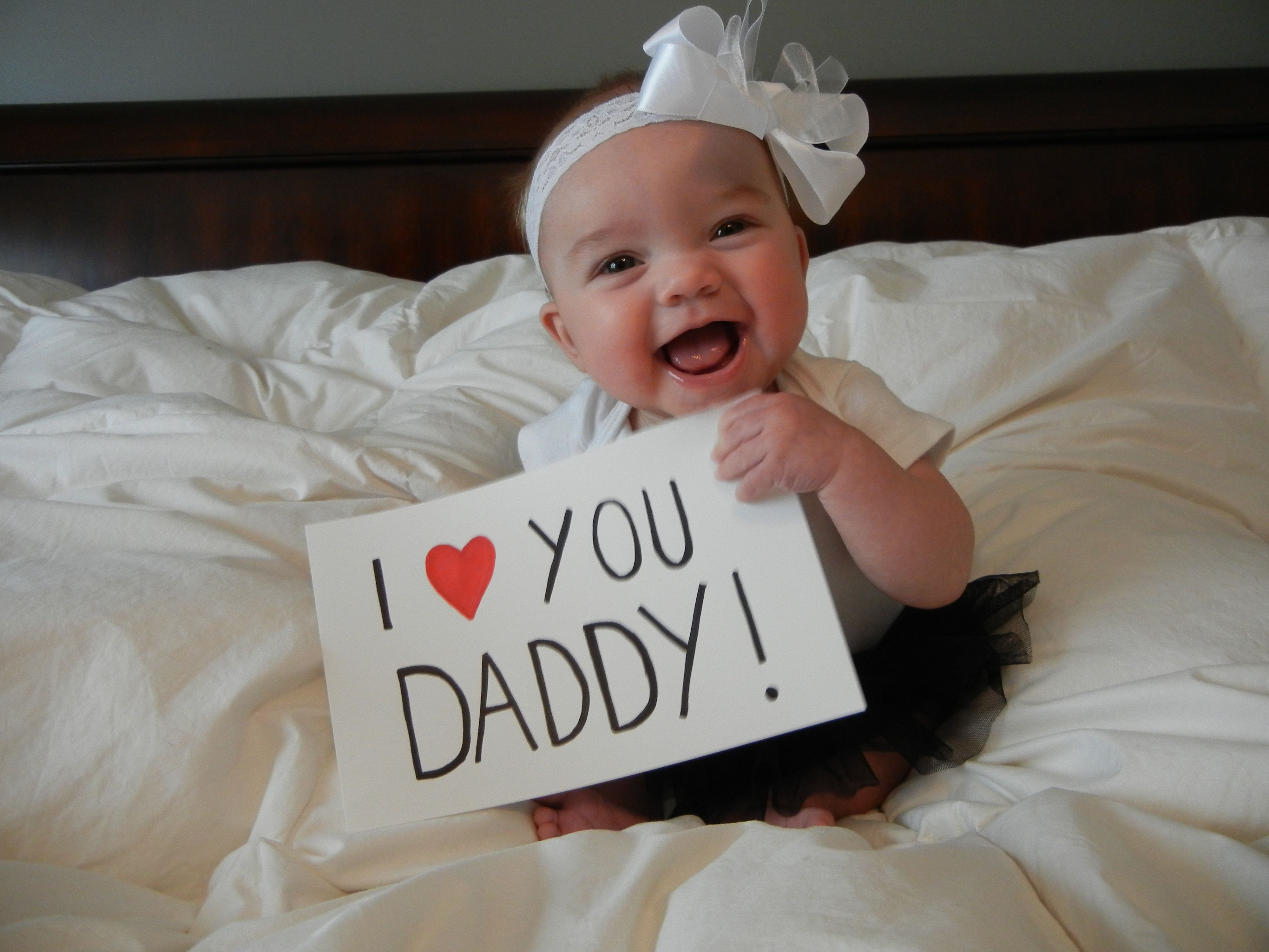 """Best ideas about First Father'S Day Gift Ideas From Baby . Save or Pin """"I love you Daddy """" What a wonderful Father s Day photo Now."""