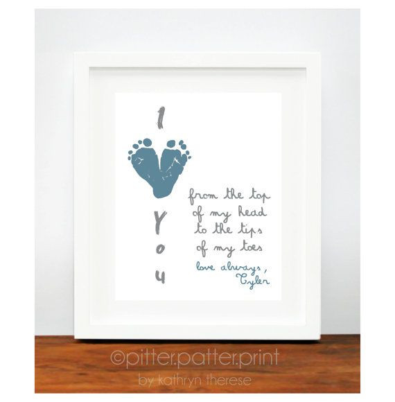 First Fathers Day Gift Ideas  First Father s Day Gift for New Dad I Love You Daddy Baby