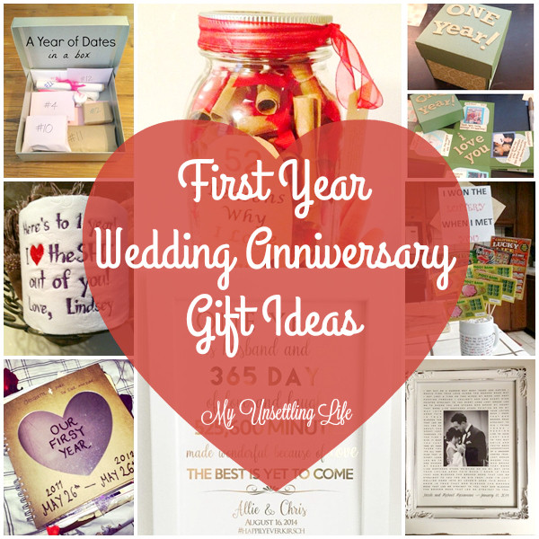 Best ideas about First Wedding Anniversary Gift Ideas . Save or Pin My Unsettling Life First year wedding anniversary t ideas Now.