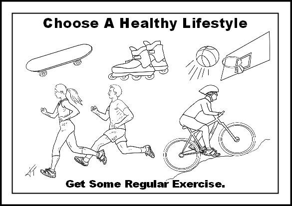 Fitness Coloring Pages For Kids  Healthy Lifestyle Choices