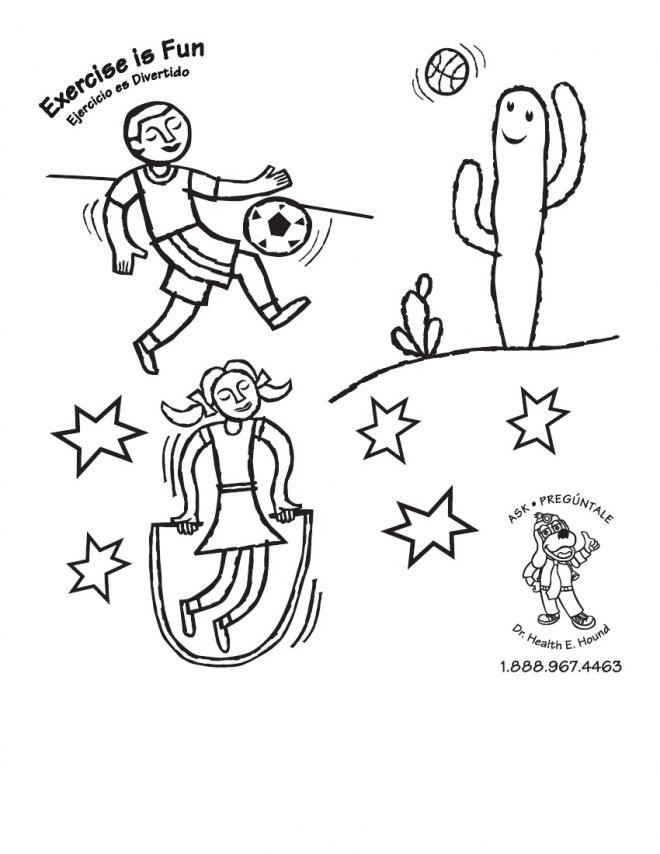 Fitness Coloring Pages For Kids  Best s Coloring Pages Exercise Is Healthy Physical