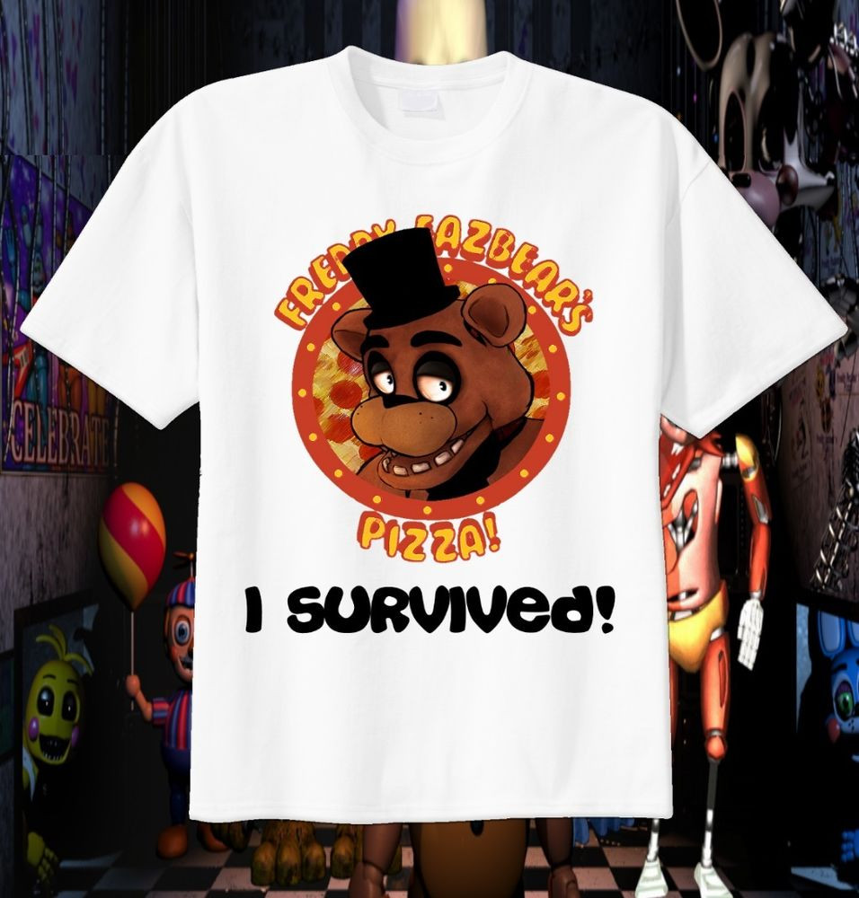 Five Nights At Freddy's Birthday Party  FAZBEAR I Survived Five Nights at Freddy s Custom T Shirt