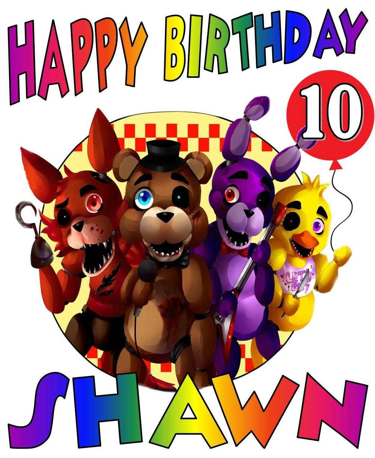 Five Nights At Freddy's Birthday Party  FIVE NIGHTS AT FREDDY S BIRTHDAY Party T SHIRT
