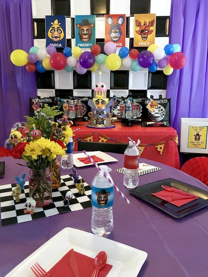 Five Nights At Freddy's Birthday Party  Kara s Party Ideas Five Nights At Freddy s Birthday Party