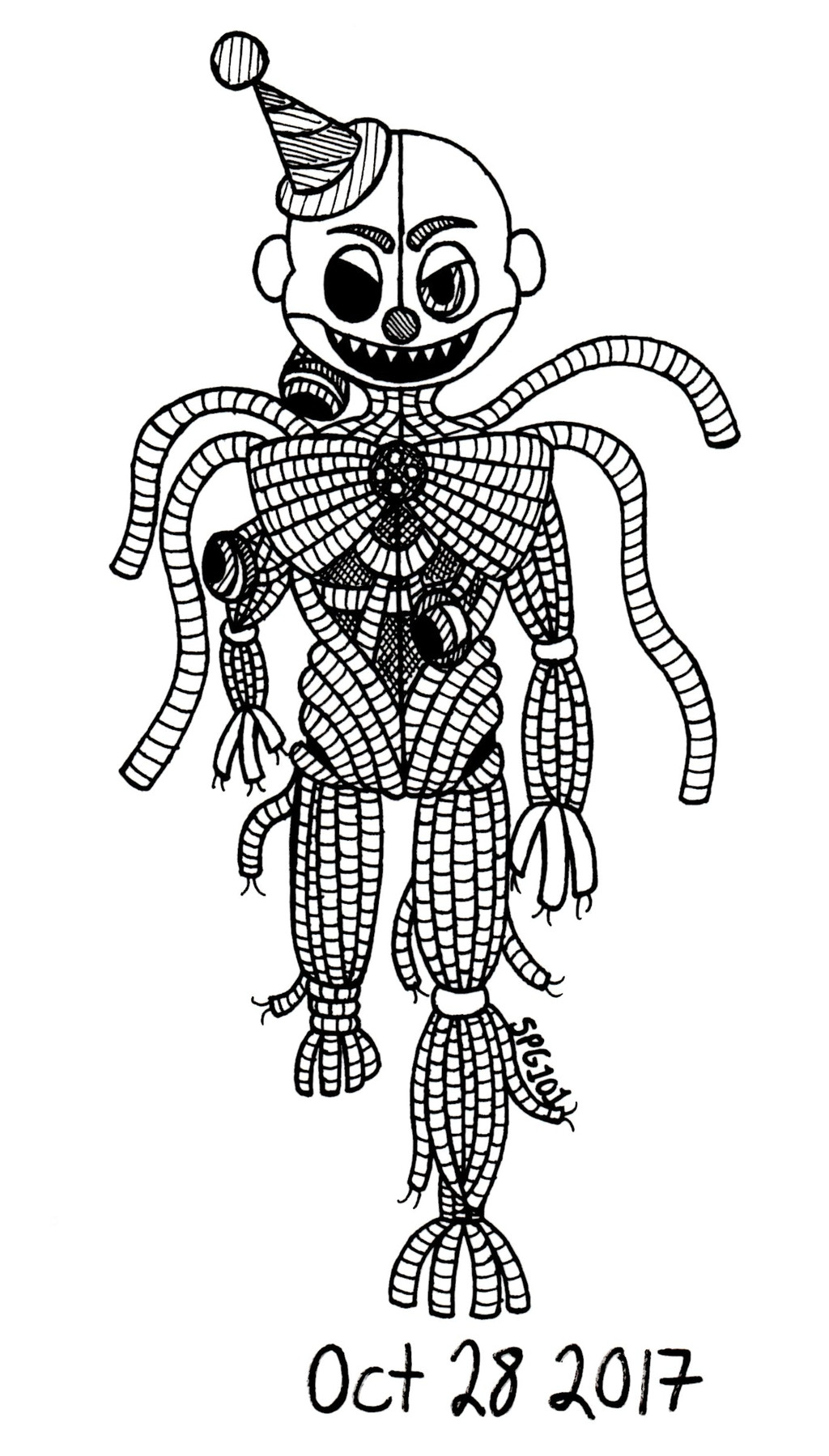 Sugar And Spice Fnaf Ennard Coloring Pages