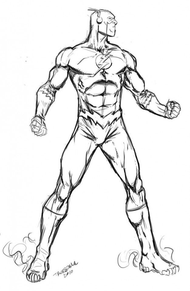 Flash Coloring Pages For Kids  The Flash Superhero Coloring Pages Coloring Home