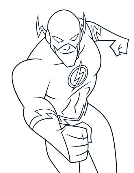 Flash Coloring Pages For Kids  Flash Coloring Pages Best Coloring Pages For Kids