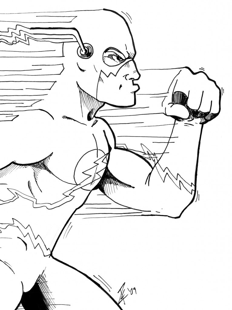 Flash Coloring Pages For Kids  The Flash Coloring Pages The Fastest Hero Character