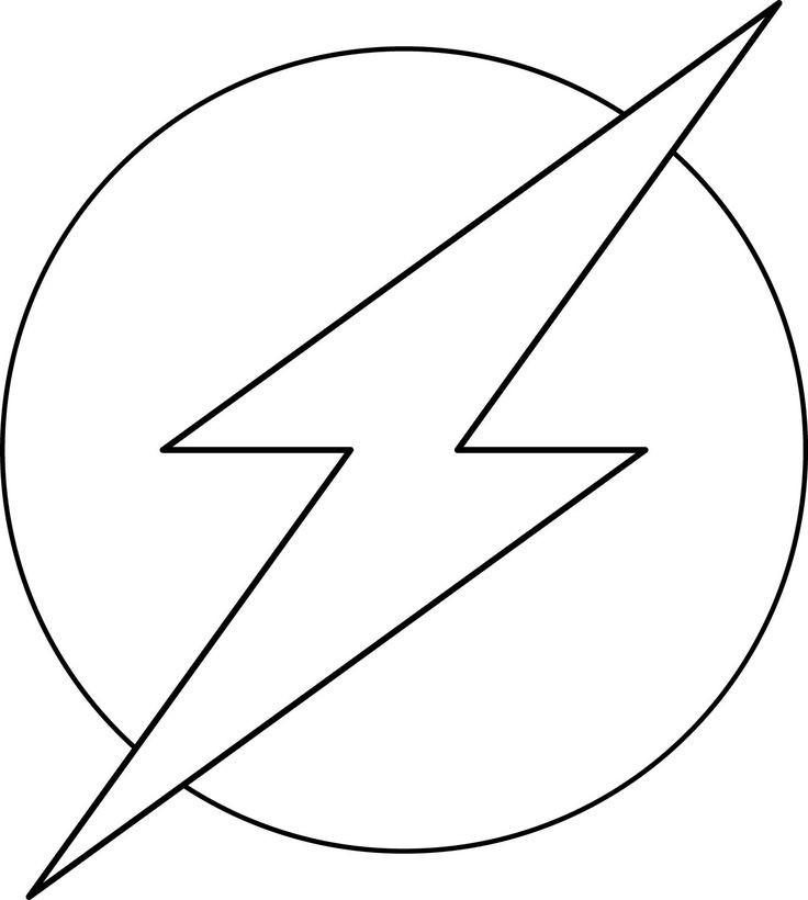 Flash Symbol Coloring Pages  Flash Symbol Coloring Page Coloring Pages