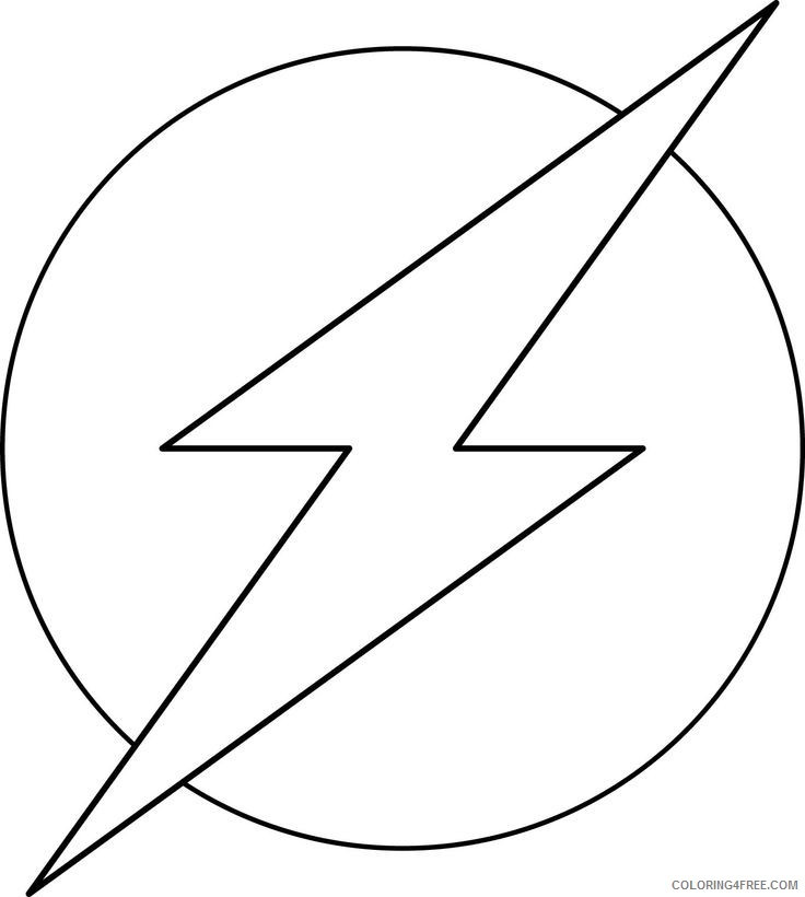 Flash Symbol Coloring Pages  the flash coloring pages logo Coloring4free
