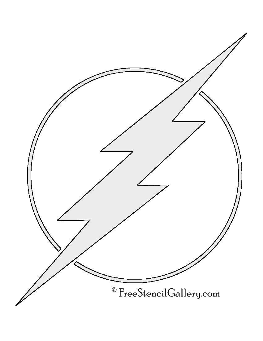 Flash Symbol Coloring Pages  The Flash Symbol Stencil