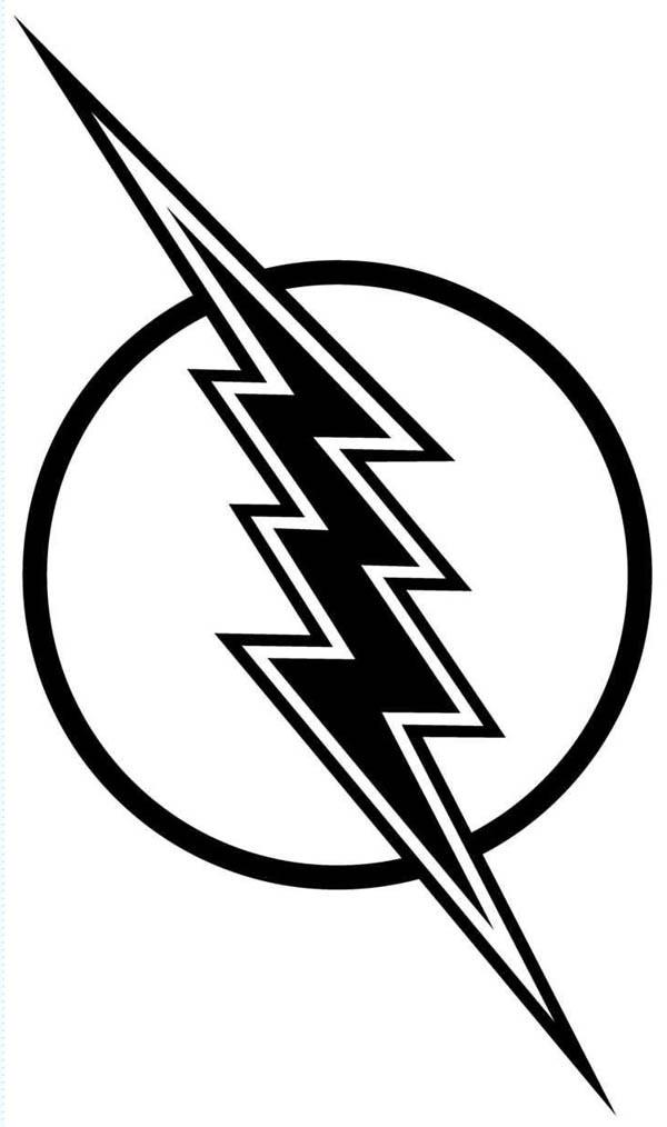 Flash Symbol Coloring Pages  Flash Gordon Lighting Bolt Coloring Page Flash Gordon
