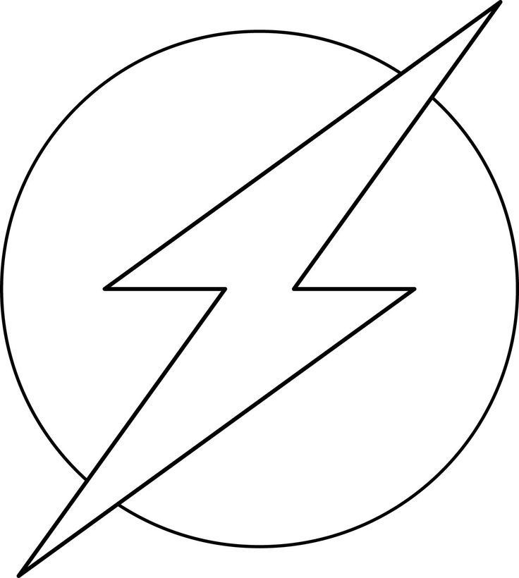 Flash Symbol Coloring Pages  Flash Coloring Pages Best Coloring Pages For Kids