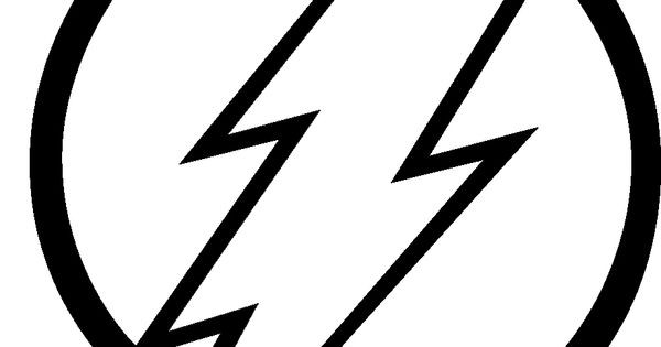 Flash Symbol Coloring Pages  flash superhero logo black and white Google Search