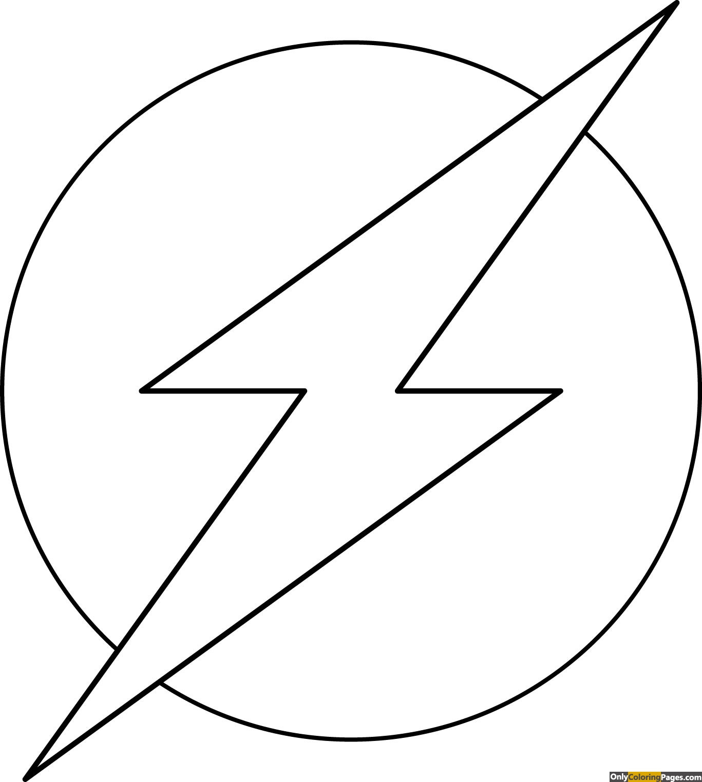 Flash Symbol Coloring Pages  Flash Symbol Coloring to Pin on Pinterest PinsDaddy