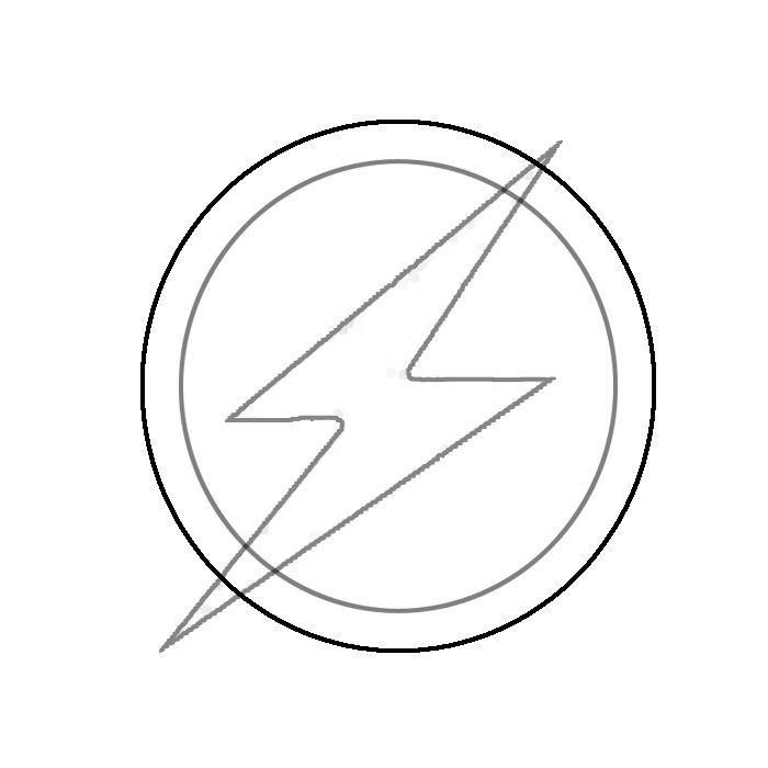 Flash Symbol Coloring Pages  Plantillas Plantillas Printables Pinterest