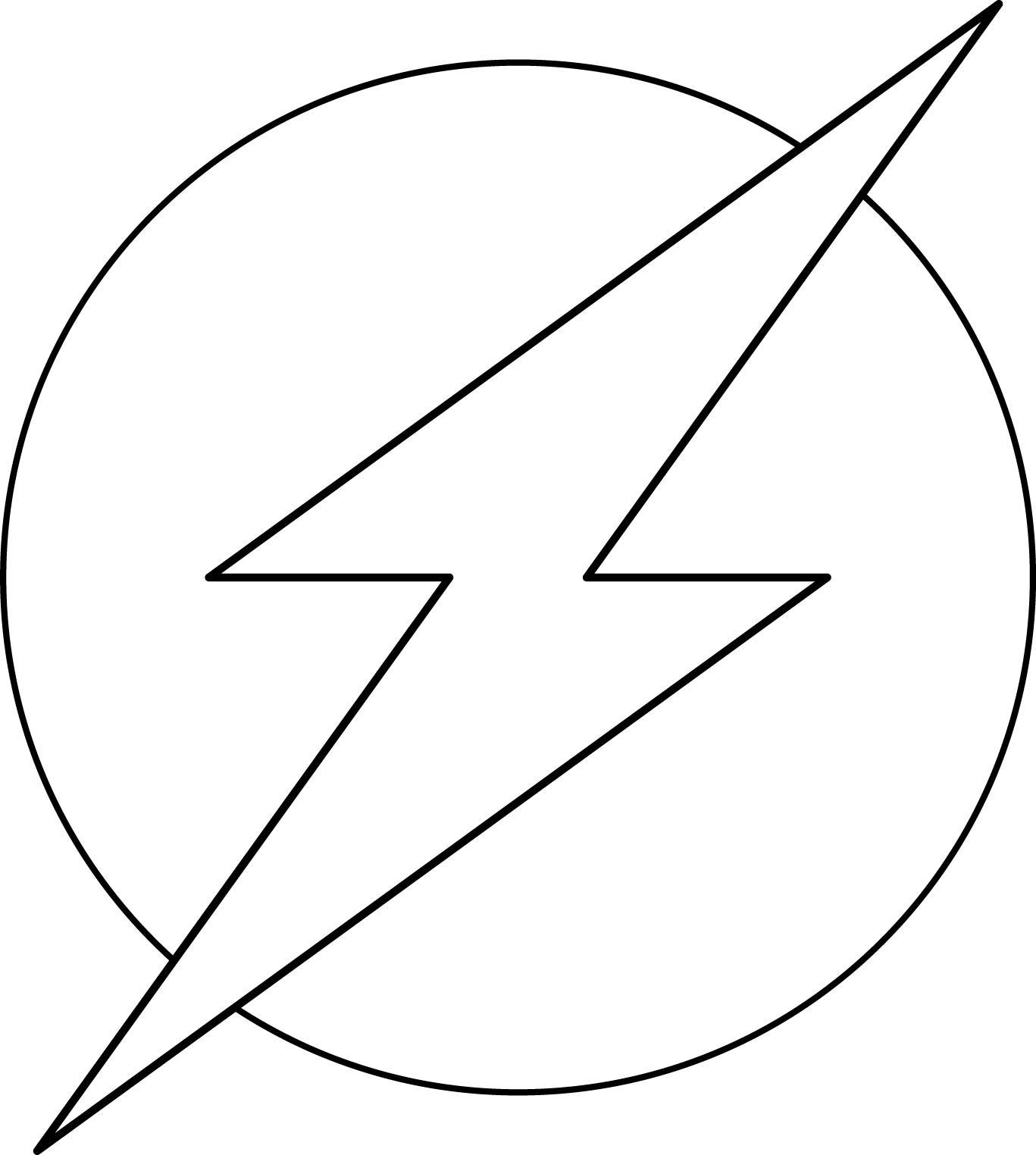 Flash Symbol Coloring Pages  Super Heroes Logos Coloring Pages Art