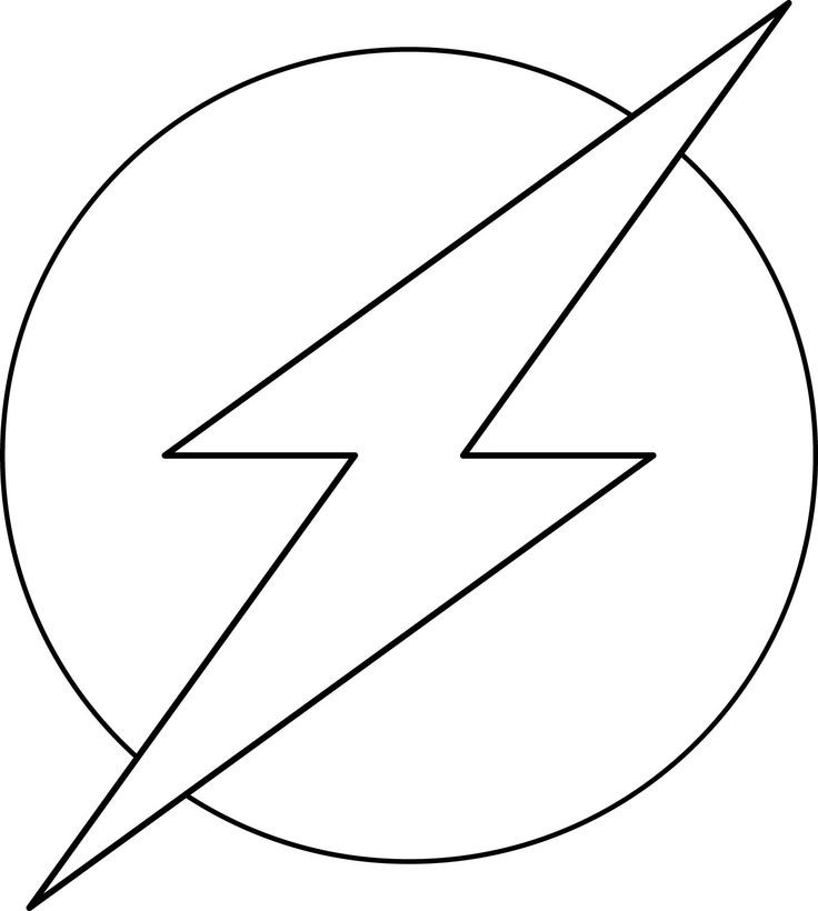 Flash Symbol Coloring Pages  The flash coloring pages logo ColoringStar