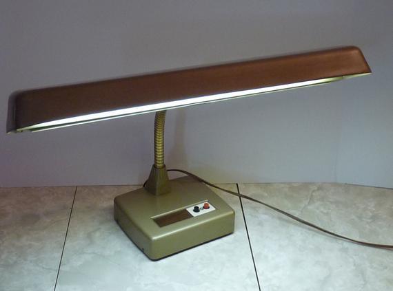 Best ideas about Florescent Desk Lamps . Save or Pin Vintage Brown Flexarm Fluorescent Desk Lamp Now.