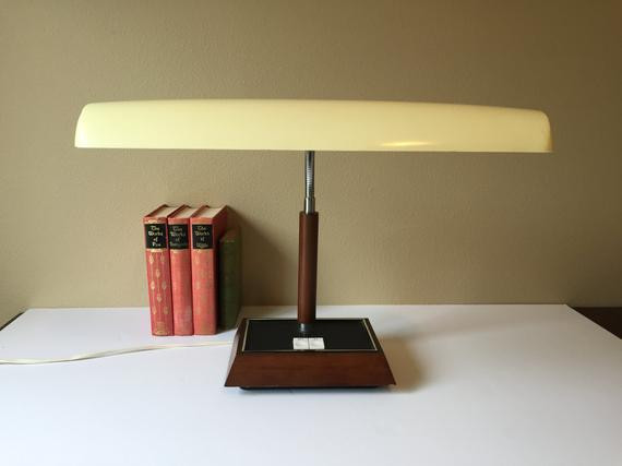 Best ideas about Florescent Desk Lamps . Save or Pin Vintage Panasonic Desk Lamp Fluorescent fice Light Mid Now.