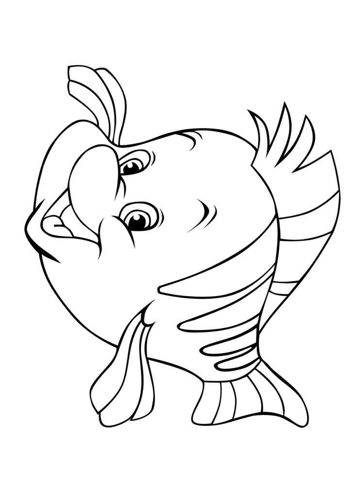 Flounder Coloring Pages  Flounder coloring pages Free Printable Flounder coloring