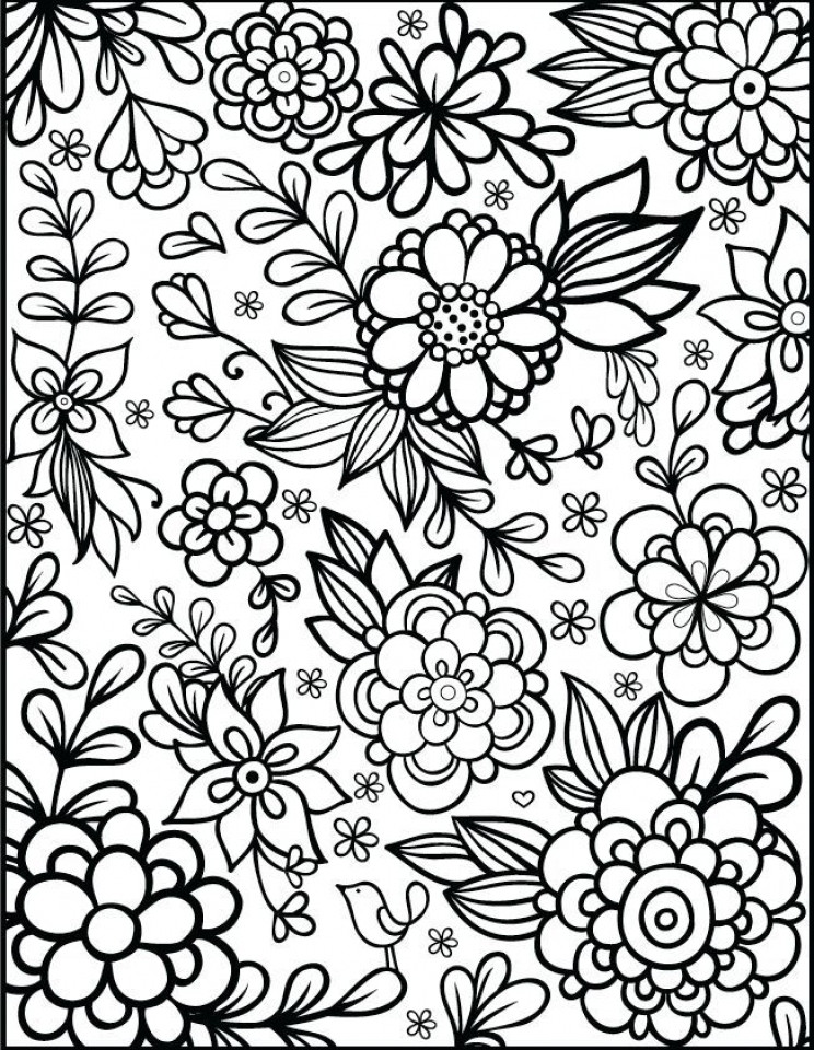 Flower Coloring Pages For Adults Printable  Get This Flowers Coloring Pages for Adults Printable ar371