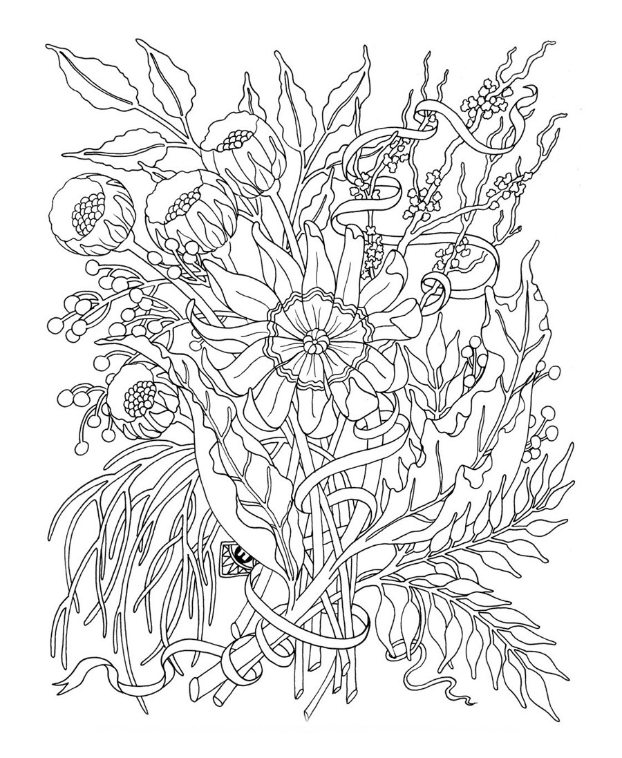 Flower Coloring Pages For Adults Printable  31 Best and Free Flower Coloring Pages for Adults