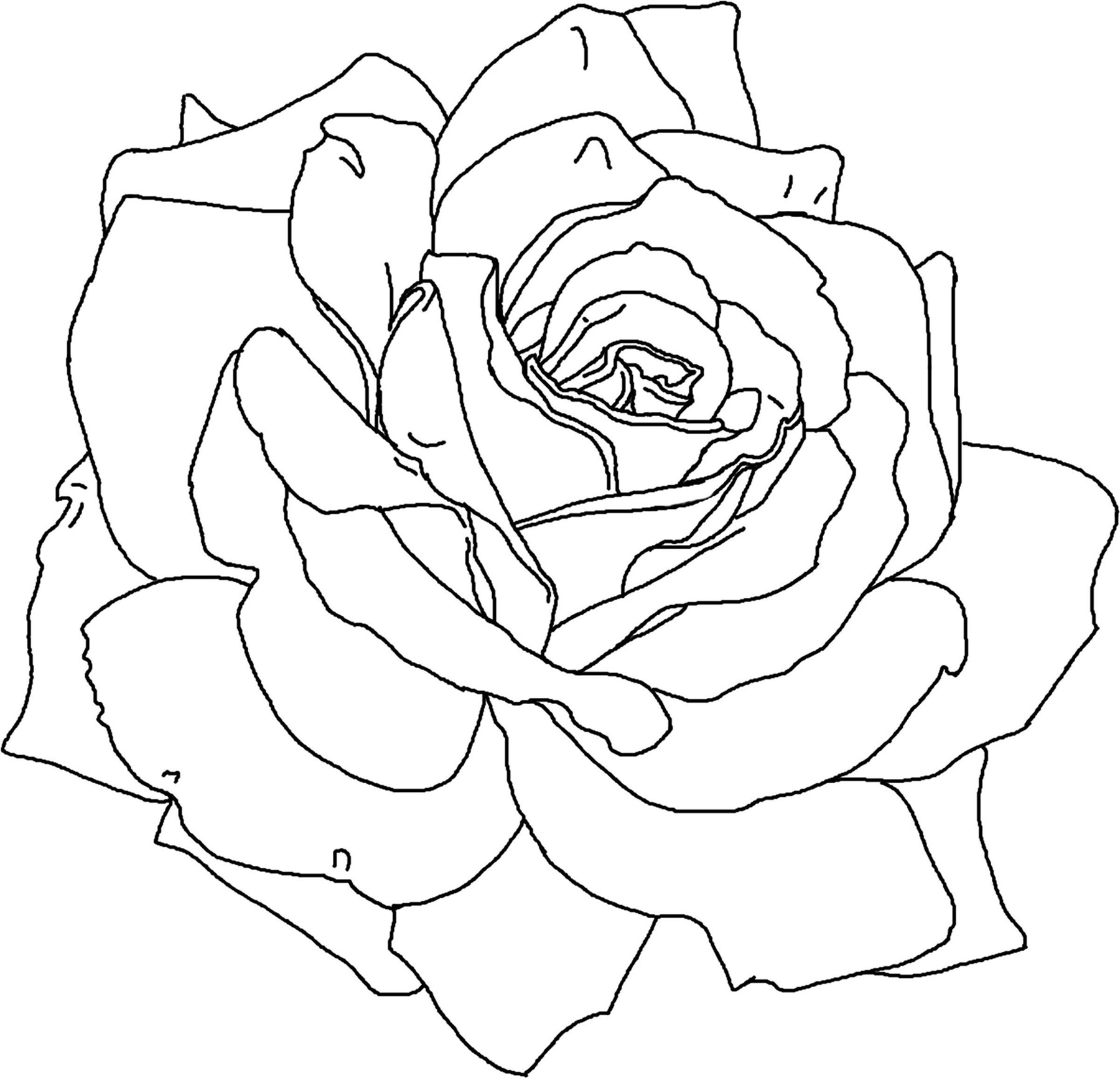 Flower Coloring Pages For Adults Printable  Free Printable Flower Coloring Pages For Kids Best