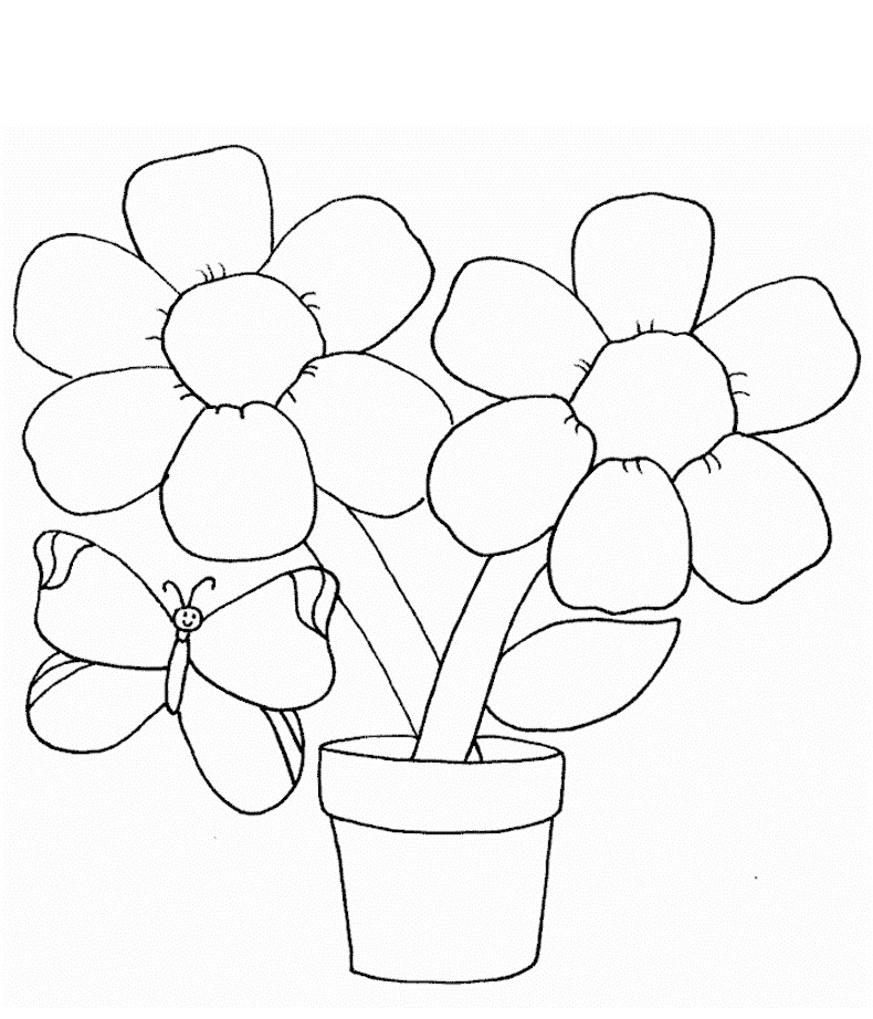 Flowers Coloring Sheet  Free Printable Flower Coloring Pages For Kids Best