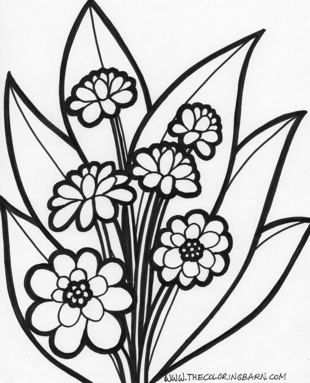 Flowers Coloring Sheet  summer flowers printable coloring pages Free