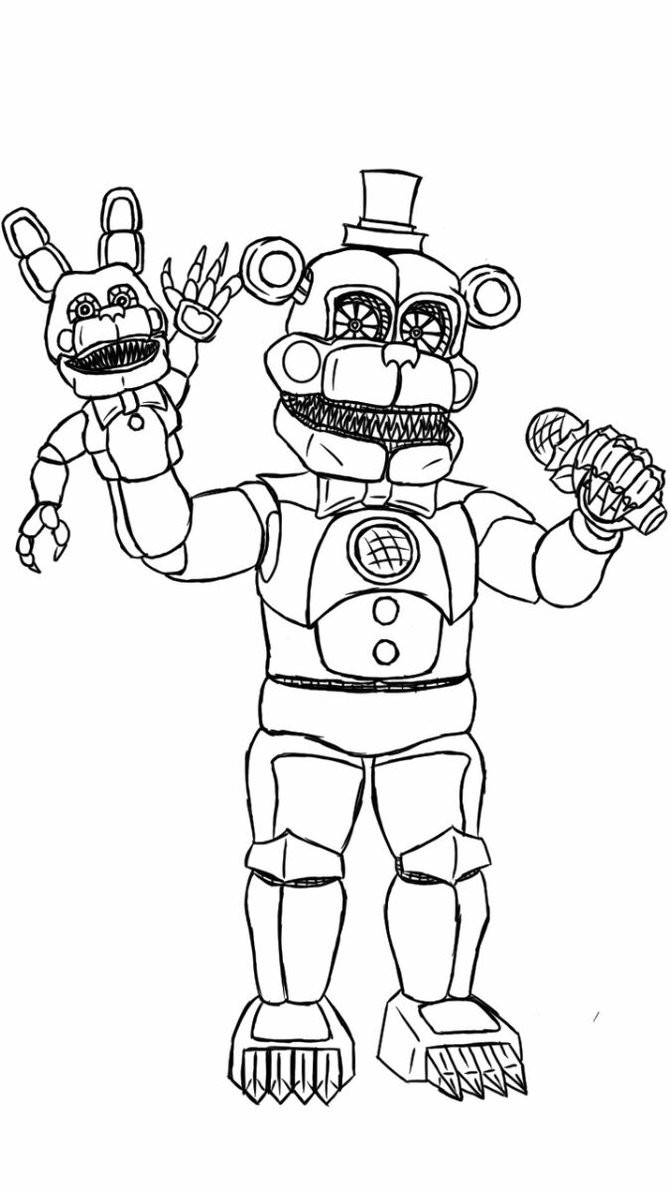Fnaf Coloring Sheet  Five Night Freddy Coloring Page Image Clipart