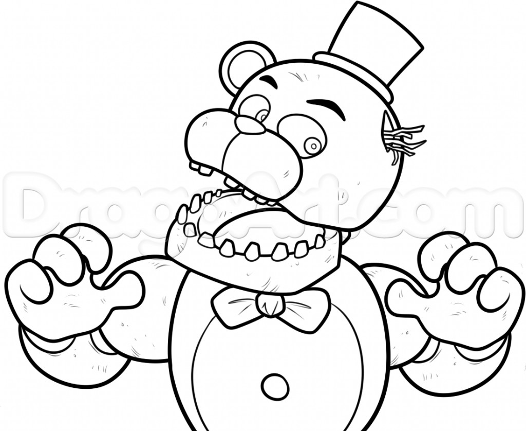 Fnaf Coloring Sheet  Fnaf 4 Coloring Pages All Characters