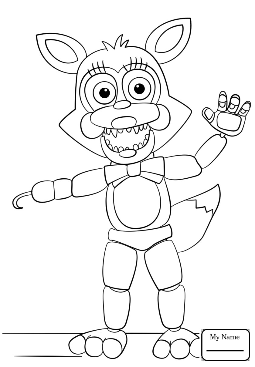 Fnaf Coloring Sheet  Fnaf Coloring Pages Funtime Foxy Gallery