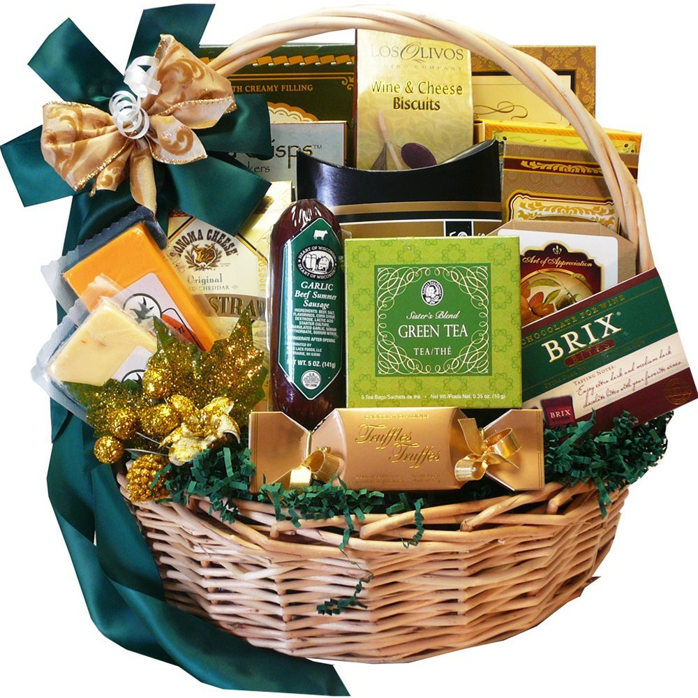 Food Gift Basket Ideas  Gourmet Food Gift Baskets Best Cheeses Sausages Meat