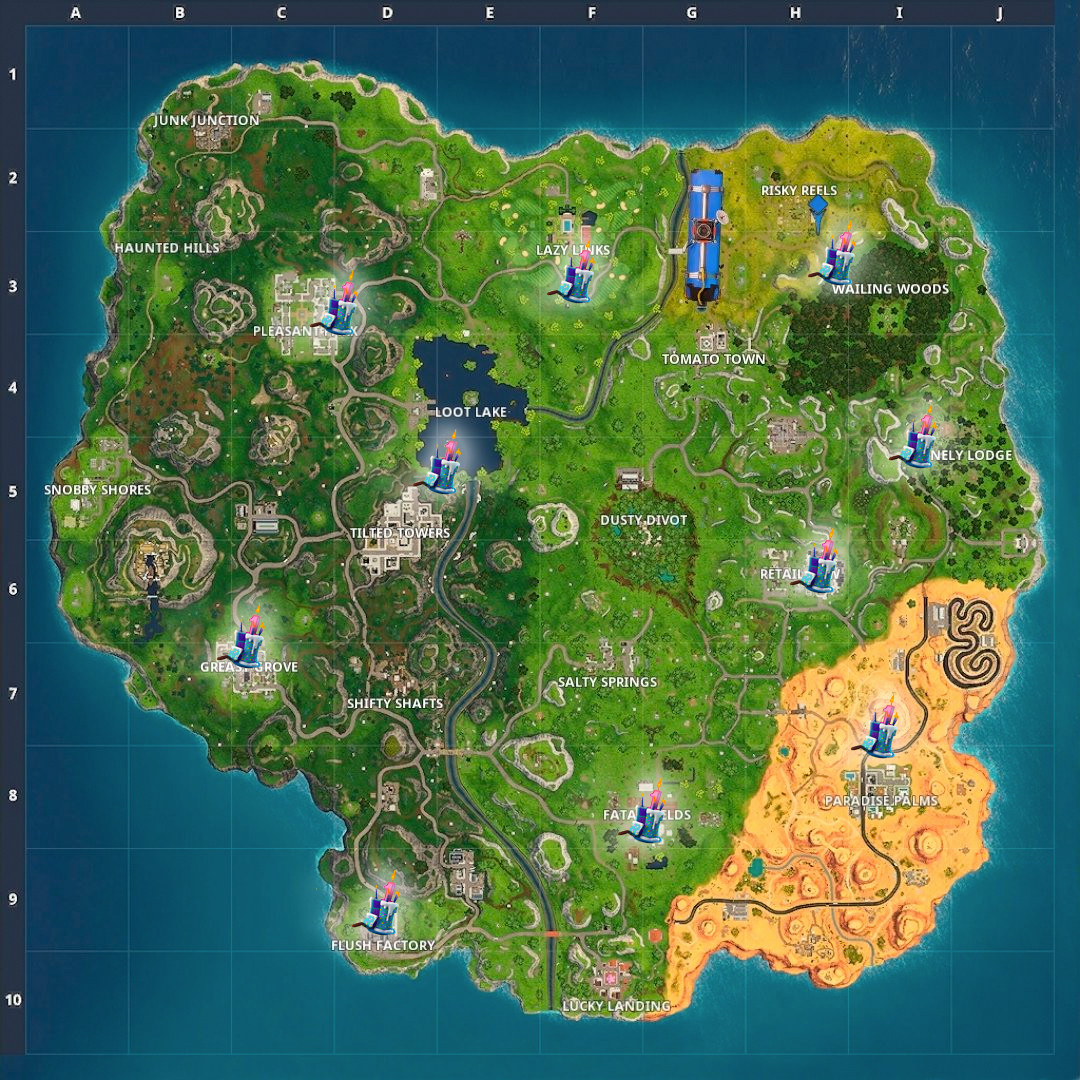 Best ideas about Fortnite Birthday Cake Map . Save or Pin Fortnite Birthday Cake Locations Guide Where To Dance For Now.