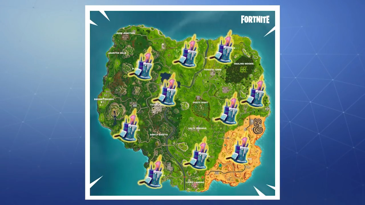 Best ideas about Fortnite Birthday Cake Map . Save or Pin Fortnite Where to find all 10 battle royale birthday Now.
