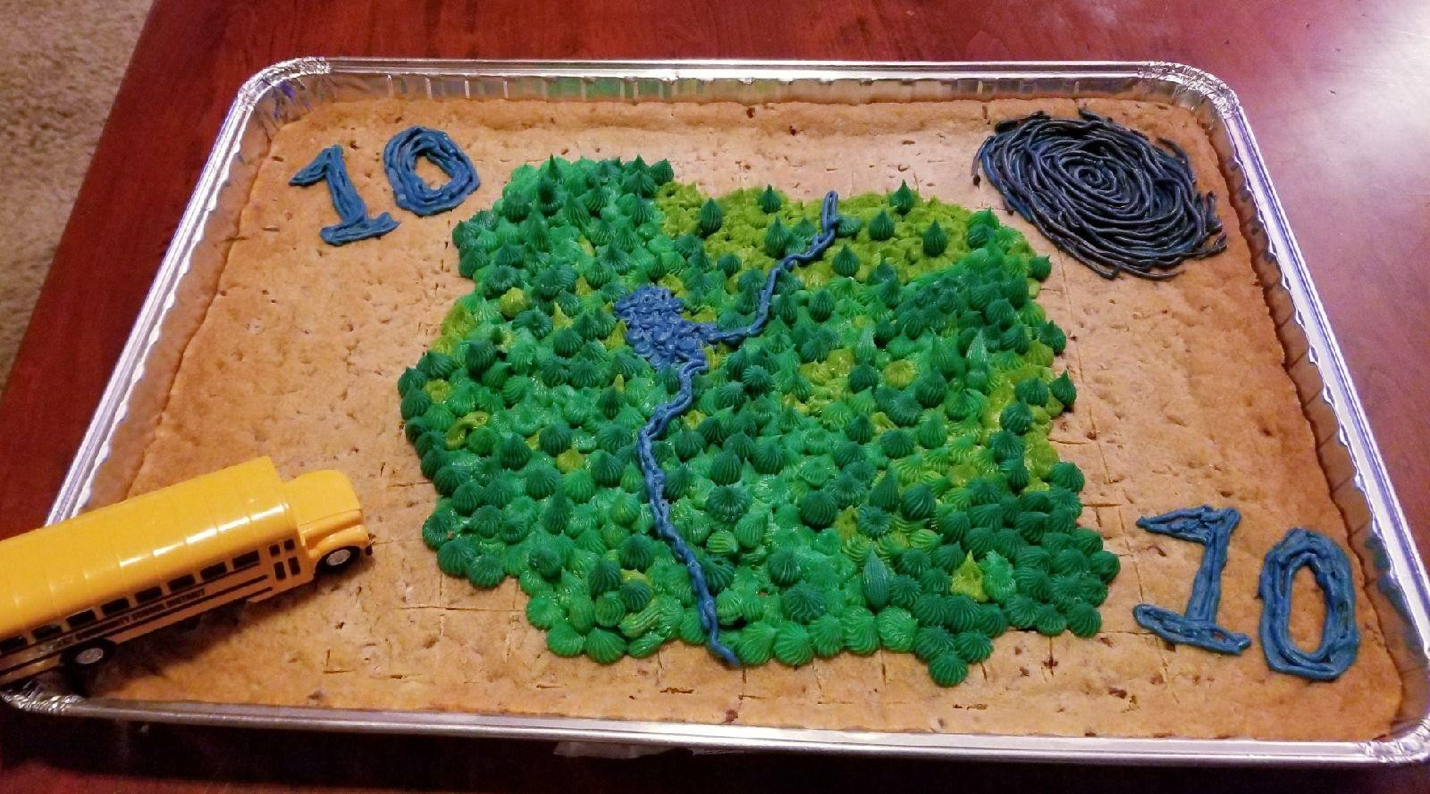 Best ideas about Fortnite Birthday Cake Map . Save or Pin My fiance made my son the Fortnite map on his 10th Now.