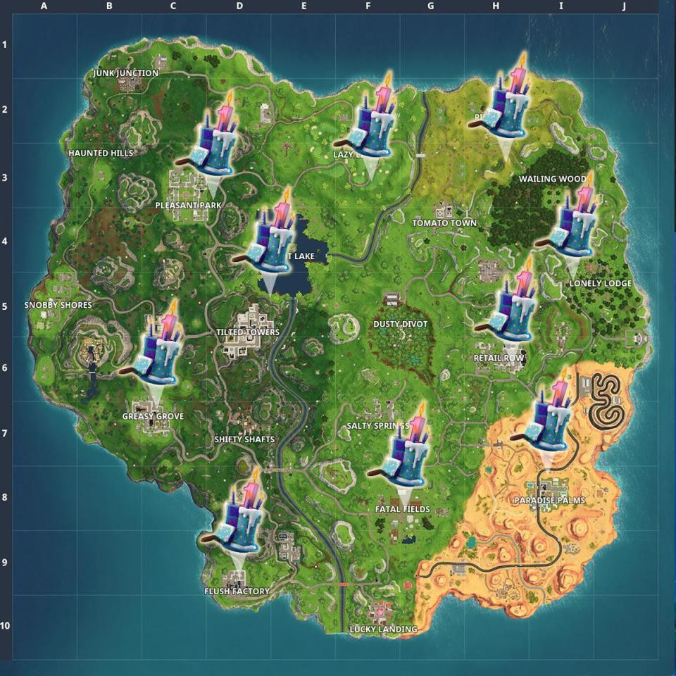 Best ideas about Fortnite Birthday Cake Map . Save or Pin Fortnite Birthday Cake Locations – Wired4Games Now.