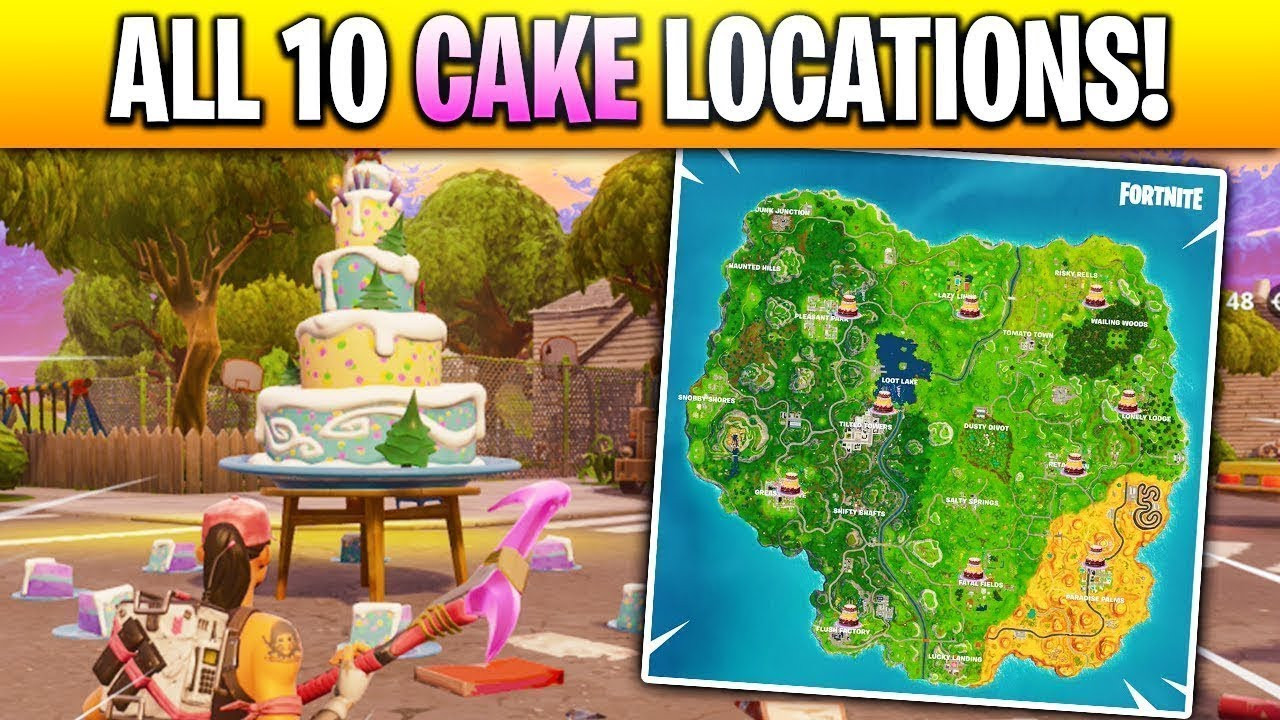 Best ideas about Fortnite Birthday Cake Map . Save or Pin All the Birthday Cake Locations[Shown in MAP] Dance in Now.