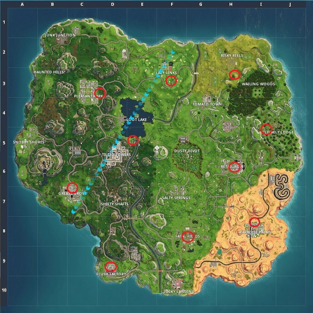 Best ideas about Fortnite Birthday Cake Map . Save or Pin Fortnite Birthday Cake Locations Dance in Front Cakes Now.