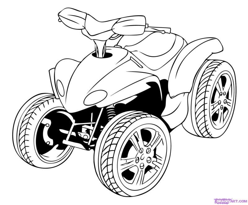 Fourwheeler Coloring Pages For Boys  Four Wheeler Free Coloring Pages