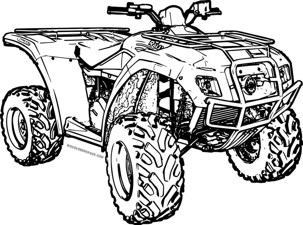 Fourwheeler Coloring Pages For Boys  Four Wheelers Free Coloring Pages