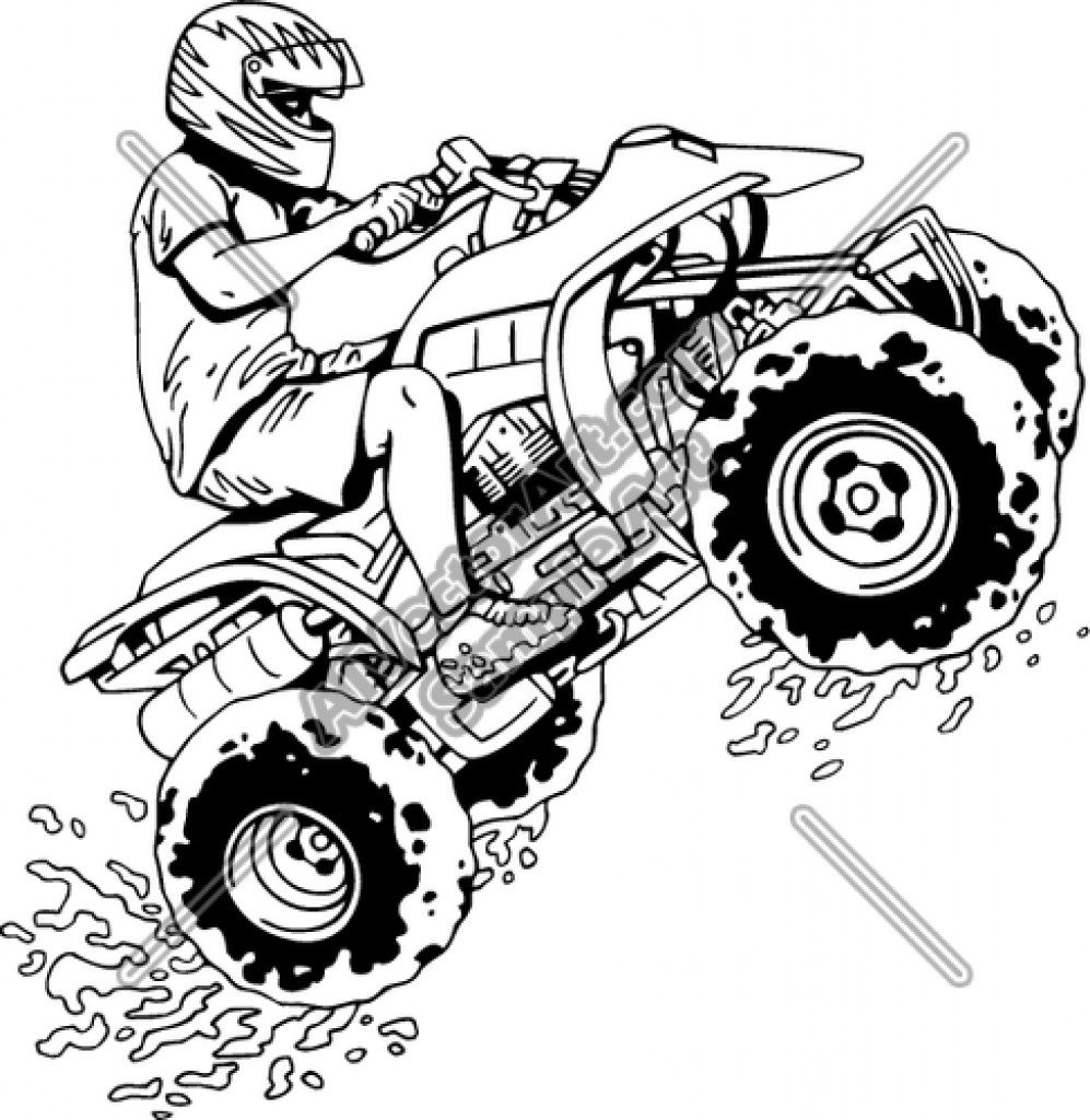 Fourwheeler Coloring Pages For Boys  4 Wheeler Drawing at GetDrawings