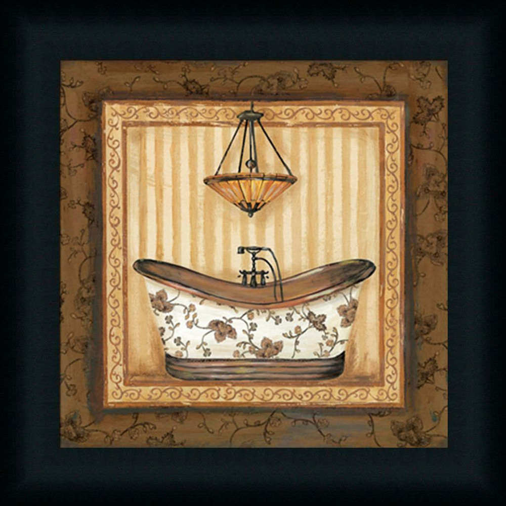 Best ideas about Framed Wall Art . Save or Pin Copper Paisley Bath I Bathroom Décor Decorative Framed Art Now.