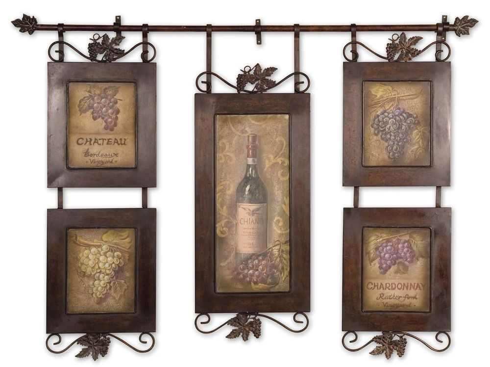 Best ideas about Framed Wall Art . Save or Pin Framed Wall Art Hanging Wine Oil Reproduction Tuscan Now.