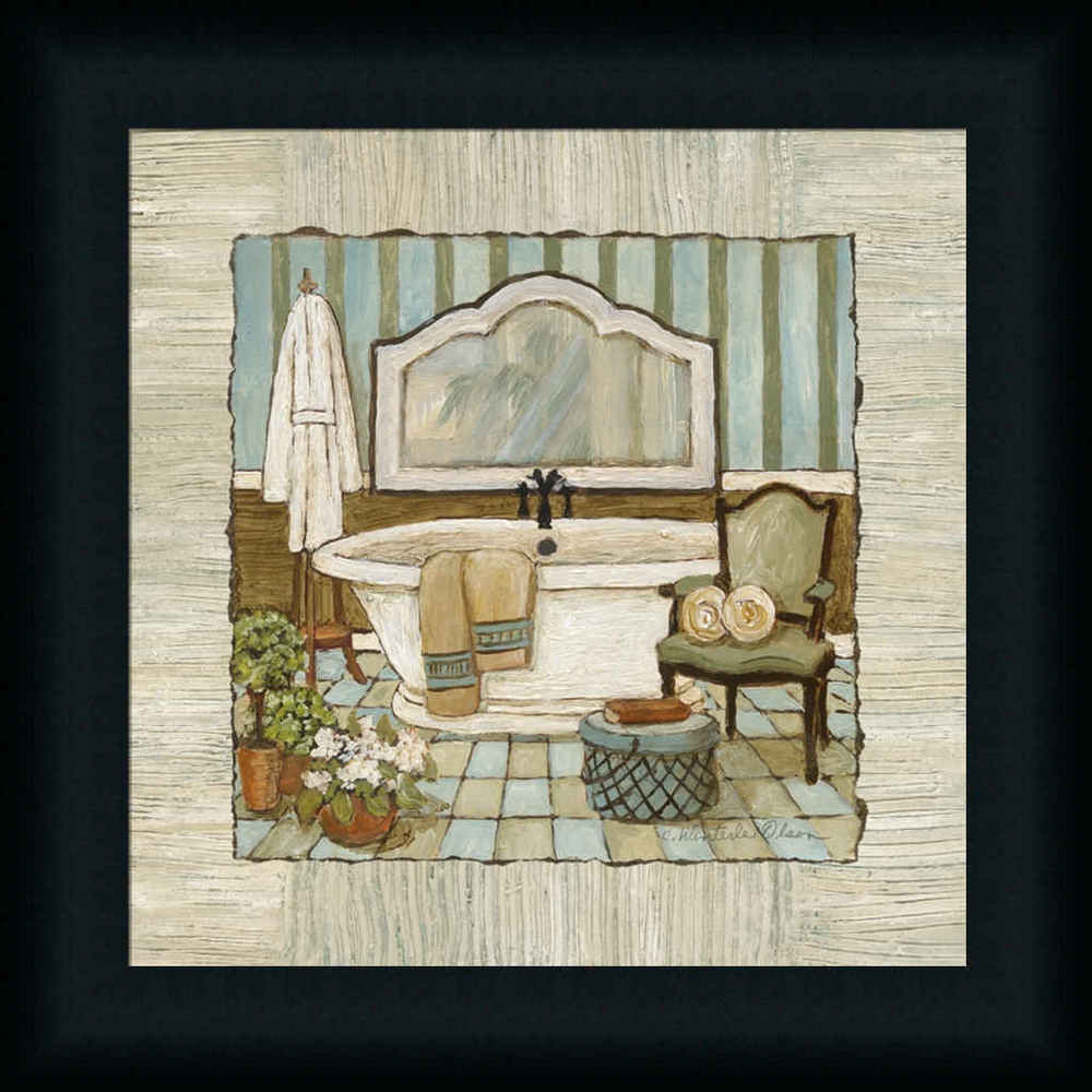 Best ideas about Framed Wall Art . Save or Pin Vintage Luxe I Bathtub Bathroom Décor Framed Art Print Now.