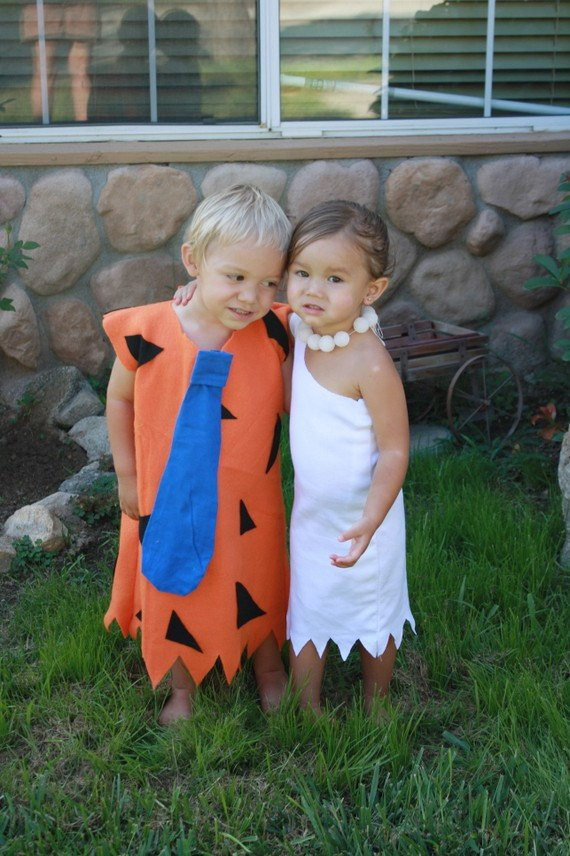 Fred And Wilma Costumes DIY  fred and wilma twins 2 costumes or siblings 0 8t Flintstone
