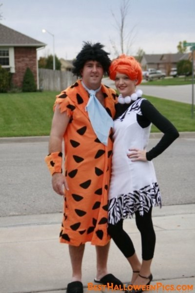 Fred And Wilma Costumes DIY  Fred and Wilma Flintstone Costume BestHalloweenPics
